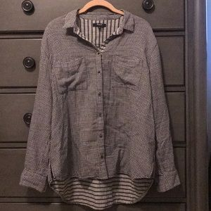 Madewell Black Checked Flannel